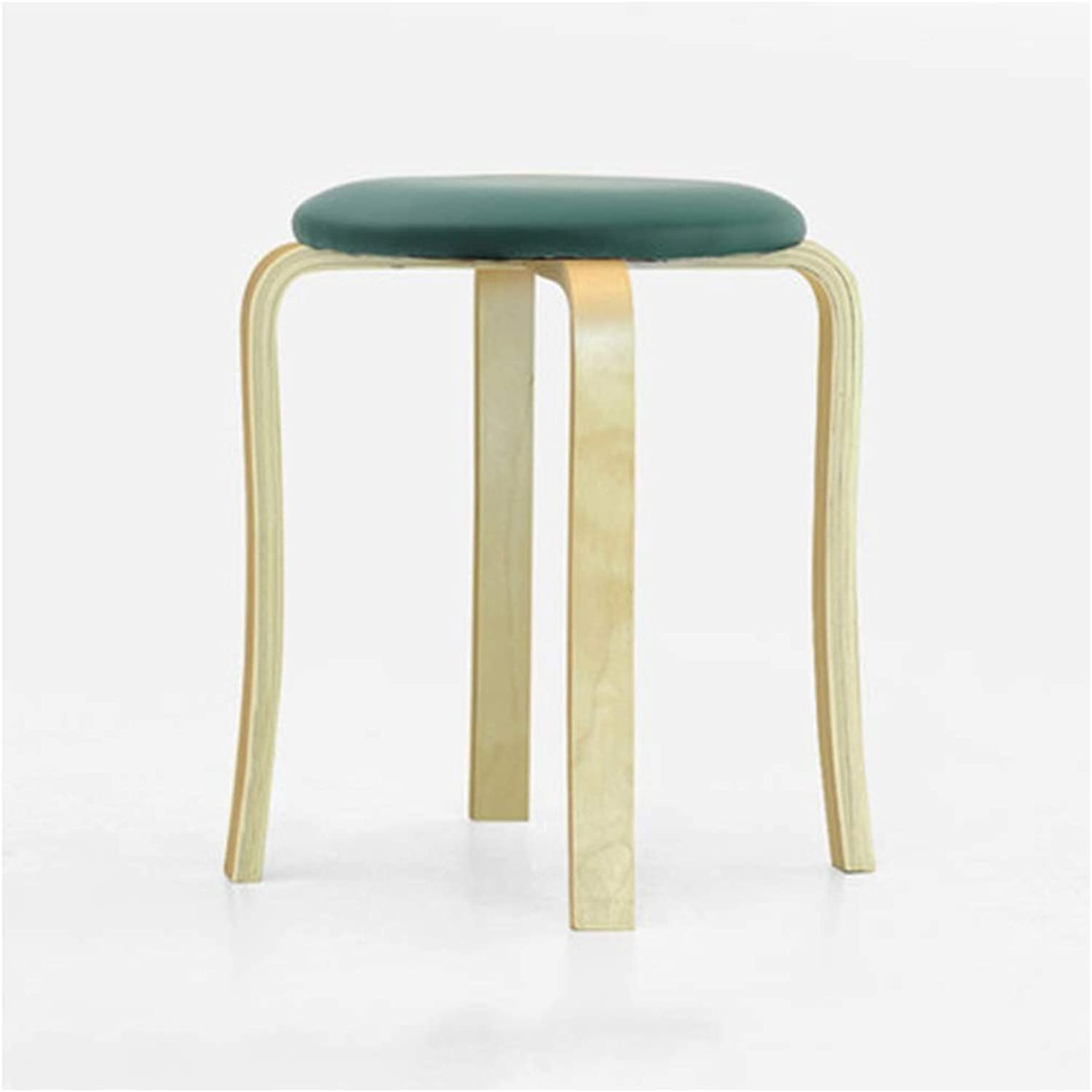 B.YDCM Wooden Bench- Home Solid Wood High Stool Fashion Creative Log Stool Simple Dining Table Stool Adult Stool - Wood Bench (color   F)