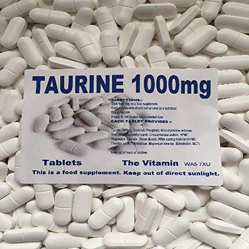 The Vitamin Taurine 1000mg 365 Tablets Free Postage