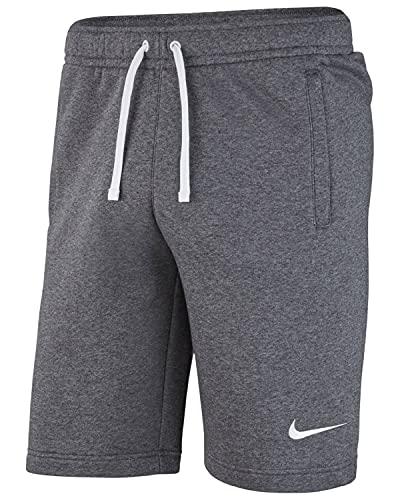 Nike Jungen Y Short FLC TM CLUB19 Sport, Charcoal Heathr/Anthracite/White/(White), XS