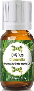 Citronella Essential Oil for Diffuser & Reed Diffusers (100% Pure Essential Oil) 10ml