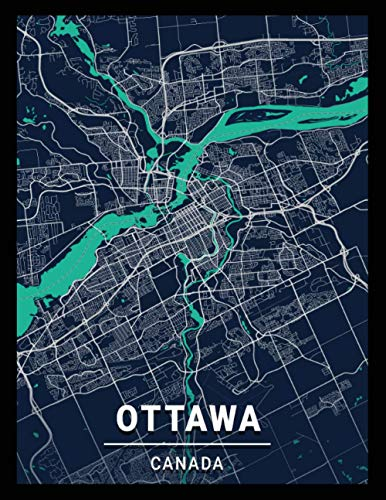 Ottawa Canada: city map; dot grid notebook with map on the cover, gift for travel lovers, souvenir