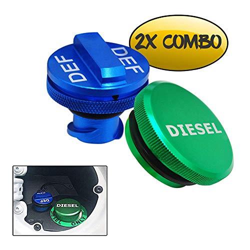 choolo Diesel Fuel Cap for Dodge,Billet Aluminum Fuel Cap Combo Pack,Magnetic Ram Diesel Billet Aluminum Fuel Cap and DEF Cap Combo for RAM 1500 2500 3500 Trucks (2013-2020) with New Easy Grip Design
