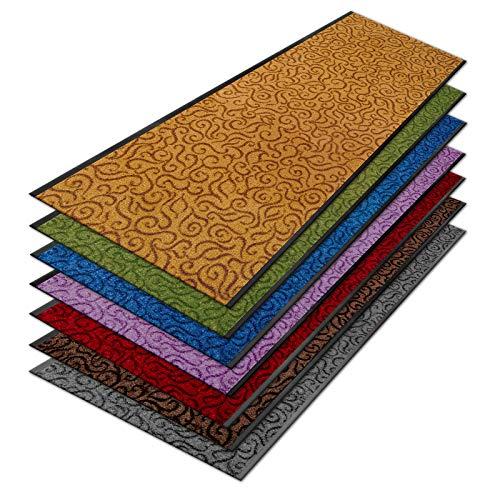 Design-Sauberlaufmatte Brasil | Schmutzfangmatte in vielen Farben und Größen | Türvorleger | Strapazierfähig & pflegeleicht (90 x 100 cm, Beige)