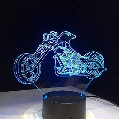 Bureaulamp Moto Ross fiets nachtlampje Color Touch Sensor bureaulamp als kerstcadeau decoratie illusie 16 kleuren nachtlampje 3D illusie lamp LED tafel bureau Dek