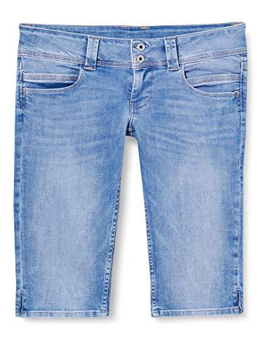 Pepe Jeans Damen Bermuda, Blau (Denim 000), 24W