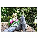 Irlanda Dublín Oscar Wilde Escultura Rompecabezas para Adultos, 300 Piezas, Rompecabezas de Madera para niños, Regalo de Viaje, Recuerdo, 16.5 × 12 Pulgadas