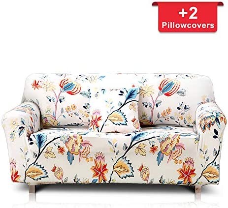Best Hipinger Spandex Fabric Stretch Couch Cover Sofa Slipcover Stylish Furniture Protector for 3 Cushion