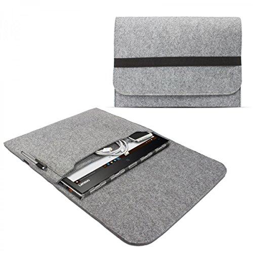 eFabrik Schutztasche für Lenovo Yoga 900, Yoga 900S, Yoga 910, Yoga 920 Tasche aus Filz Filztasche Case Sleeve Soft Cover Schutzhülle Sleeve, Farbe:Grau