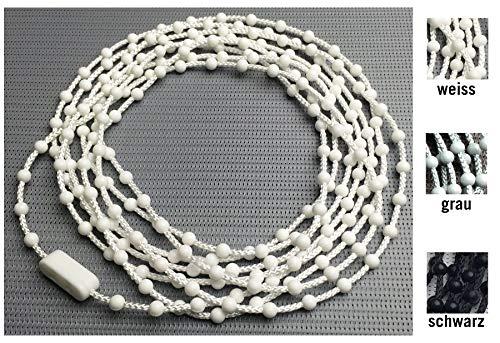 EFIXS Rollokette aus PVC (Bedienkette) - 240 cm Bedienlänge (480 cm Umlauf) - 4,5 x 12 mm - für Rollos, Jalousien, Lamellenvorhänge, Farbe: Weiss