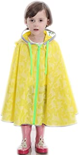 LHY- Raincoat S/M/L/XL Children's raincoat Boys and Girls raincoat Breathable Poncho Student with Bag raincoat Convenient (Color : Yellow, Size : S)