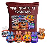 Five Nights Game Plush Pillow- Cute Throw Pillow Stuffed - Five Nights Game Toys - Cute Bear Pizza Dolls, 50x36cm - 1 Bag Mini Dolls Pudding Plush Toys for Sofa Bed for Teen Girls Boys
