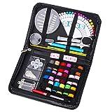 Set da Cucito con 87 Accessori di Cucito 18 Rocchetto di Filo Color Arcobaleno Set Cucito A Mano Zipper Kit, Portatile Kit da Cucito per Principianti o per Viaggi