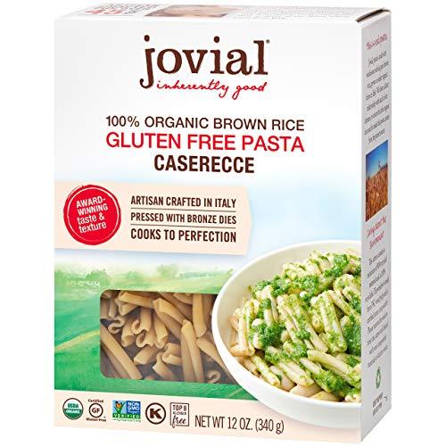 Jovial Caserecce Gluten-Free Pasta | Whole Grain Brown Rice Caserecce Pasta | Non-GMO | Lower Carb | Kosher | USDA Certified Organic | Made in Italy | 12 oz (12 Pack)