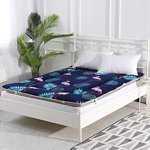 MWPO 3 Cm Foldable Thickened Plush Futon Mattress, Home Dormitory Outdoor Portable Anti-slip Soft Tatami Mattress-g 150x200cm(59x79inch)