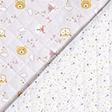 Fabulous Fabrics Steppstoff Doubleface Waldtiere – rosa