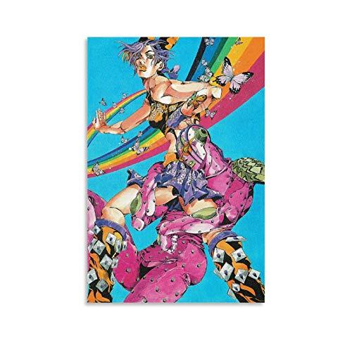 JoJo's Bizarre Adventure Art Poster décoratif sur toile pour salon, chambre à coucher 30 x 45 cm