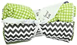 Trend Lab Burp Cloth Set, Perfectly Preppy, 4-Count