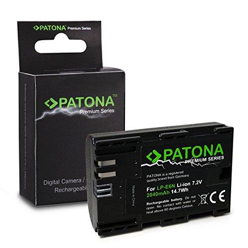 PATONA Premium Bateria LP-E6N 2040mAh Compatible con Canon EOS 80D EOS R, de Calidad Probada y fiable