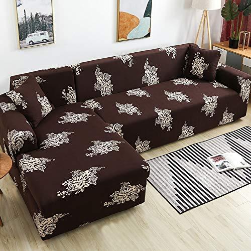 Fundas de sofá Funda de sofá en Forma de L Funda de sofá elástica para Sala de Estar Chaise Lounge Funda seccional A21 1 Plaza