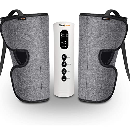 SHINE WELL Leg Massager for Circulation, Leg Compression Massager for Calf Foot and Arms, Calf Massager with 3 Modes 3 Intensities 2 Timing, Helpful for Restless Legs Syndrome Relief, Pain Relief