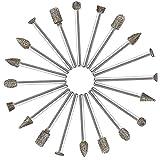 20Pcs 60 Grana Set Frese Diamante - ZFYQ Frese Diamantate Punte Montate Abrasive con 3 mm ...