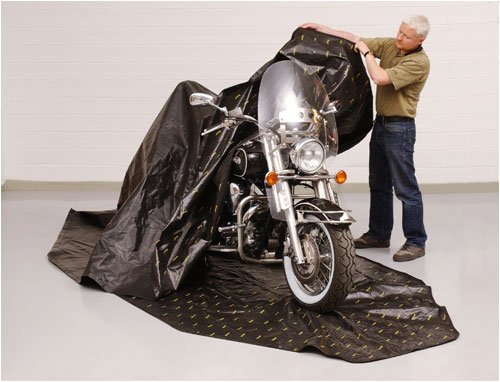 Zerust Rust Protection Motorcycle Storage Cover with Zip...