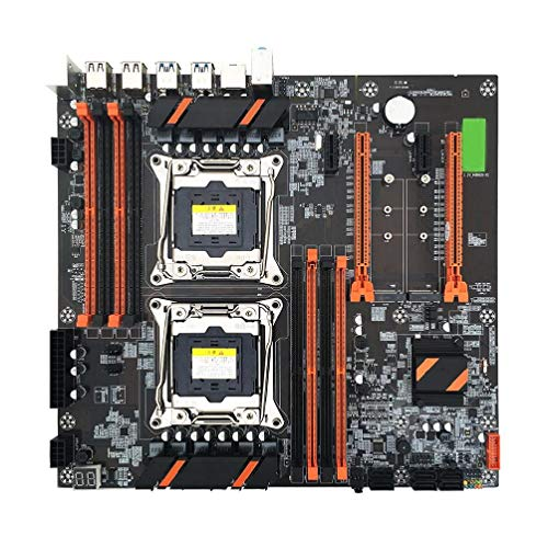 LuohuiFang X99 LGA2011-3 - Placa base para CPU (DDR4, Dual Server Computer)
