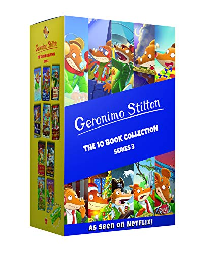 Geronimo Stilton: The 10 Book Collection Series 3 Box Set (A Cheese-Coloured Camper Van, The Search for Sunken Treasure, The Mona Mousa Code ... The ... Of The Fire Ruby, The Mouse Island Marathon)