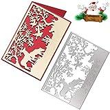OOTSR Fustelle per Decorazioni Natalizie, Fustelle Albero di Natale Alce, per Fai Da Te, Album di Ritagli, Cartoline di Carta e Stencil