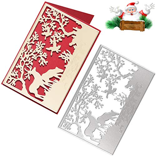 OOTSR Troqueles Navidad Scrapbooking, Troqueles de Metal Dies Corte, Plantilla de Troquelado para Estampado/Fabricación de Tarjetas/Foto Decorativa/álbum de Recortes de Papel