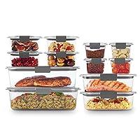 Rubbermaid (ラバーメイド) 2108377 ブリリアンスストレージ 食品保存容器 プラスチック蓋 14個セット ビスフェノールA不使用