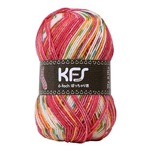 Opal毛糸 オリジナルカラー6本撚り ぽっちゃり君 KFS136 赤ずきんちゃん ピンク系