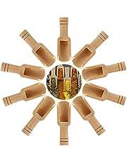 Borlai 10Pcs / 20Pcs Mini Cucharas Cucharas Cucharas de Madera Práctico Conjunto de Herramientas de Cocina Casera