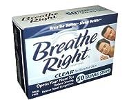 ブリーズライト(透明) SMサイズ  Breath Right Nasal Strips Clear 44枚入り 海外直送品