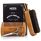 Wooden Beard and Comb Set for Men - Perfect for Beards Head Hair and Mustaches Men