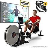 Sportstech RSX600 Máquina de Remo Profesional; Freno magnético y de Aire; Smartphone App...