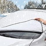 QQLK Copertura Parabrezza Auto, Protezione Parabrezza, Antigelo Impermeabile Anti UV Parasole Telo Parabrezza Auto per la Maggior Parte dei Veicoli