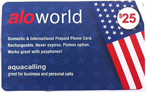 Prepaid Phone Card Best for United States & International Calls, No Pay Phone Fee, Calling Card That Never Expires.