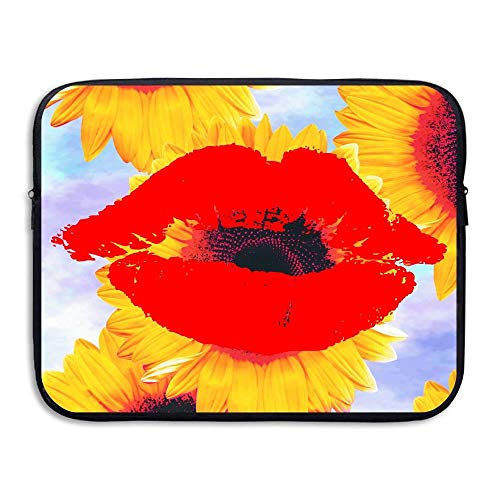 Laptop Sleeve Bag Big Red Lips 15 Inch BriefSleeve Bags Cover Notebook Waterproof Portable Messenger Bags