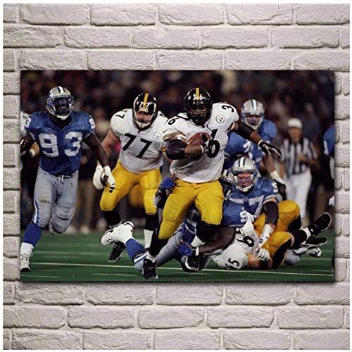 wzgsffs Sport American Football Spielfeld Fantasie Wohnzimmer Einzigartiges Geschenk Home Art Dekor Leinwand Malerei Wandkunst Bild-20X30 Zoll Rahmenlos