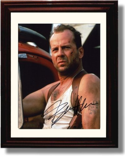 Framed Bruce Willis Autograph Replica Print - Die Hard