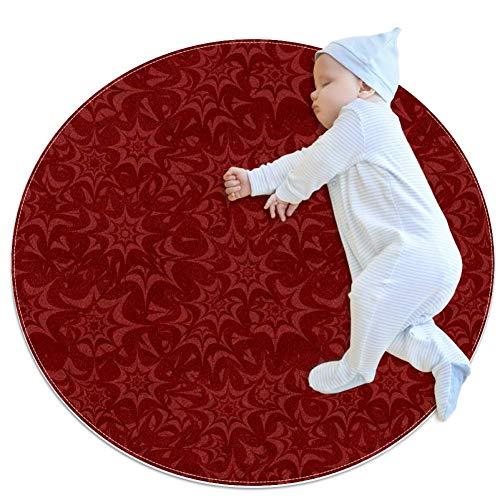 DEDEF Teppich mit rotem Stern, groß, rutschfest, zottelig, weich, für Schlafzimmer, Boden, Zuhause, Küche, Badezimmer, Dusche, Putzmatte für Kinder, Mehrfarbig2, 80x80cm/31.5x31.5IN
