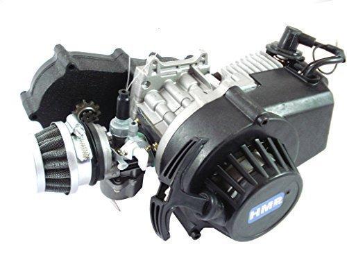 HMParts Motor mit Sportgetriebe - 49 ccm - 1A - Pocket Bike/Dirt Bike