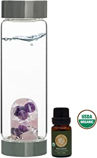 VitaJuwel Gem Water Bottle ViA - Wellness w/Free Wellness Essential Oil Blend