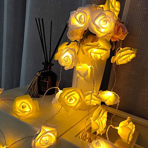 HOTLIKE Guirnalda Luces, Cadena de Rosas Luces 3M 20 LED, 2 Modos, Fairy String Light Pilas Luces Decoración para Navidad Interior y Exterior, Habitacion, Jardín, Boda, Proponer Fiesta, San Valentín