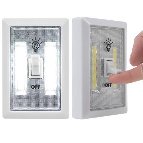 COB - Interruptor de pared con luz LED, inalámbrico, multiusos, autoadhesivo, para habitación de niños, adultos