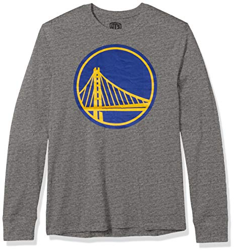 OTS NBA Golden State Warriors Men's Rival Long Sleeve Tee, Logo, Large