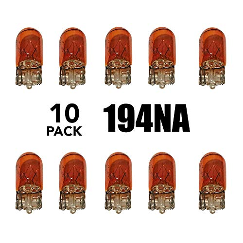 Auto Supplies Direct ASD 194NA - (Box of Ten) 194 Amber Bulbs