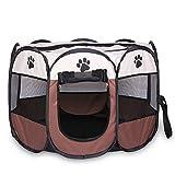 Huante Tienda plegable portátil para mascotas, jaula para perros, tienda de campaña, para cachorros, fácil operación, octogonal, valla #A