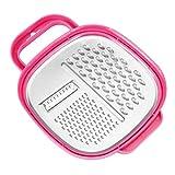Socobeta Rallador de acero inoxidable resistente y duradero Rallador multifuncional Rallador antioxidante para la cocina casera (rosa)